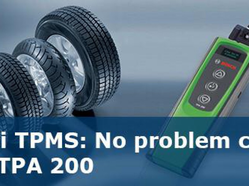 Sensori TPMS: No problem con Bosch TPA200